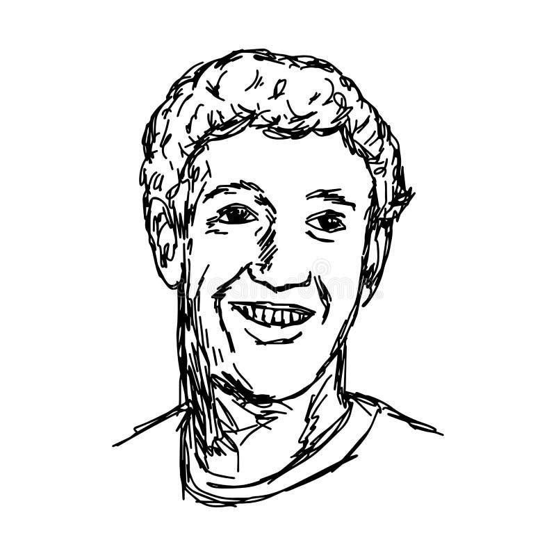 CHIANG RAJA TAJLANDIA, KWIECIEŃ, - 25: ręka rysujący portret smi ilustracji