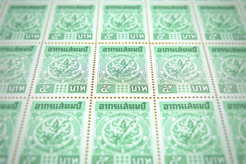 Chiang raja Tajlandia, Maj, - 21, 2018: Celna opłata pocztowa, 5 baht ponowny obrazy royalty free