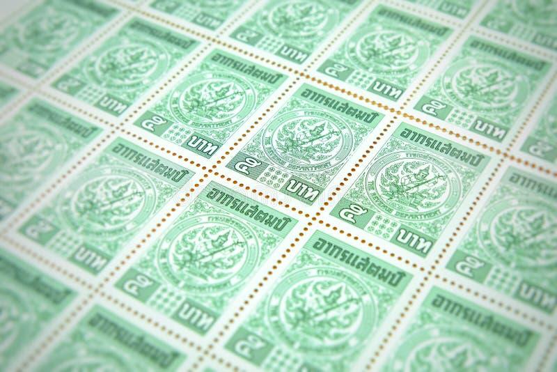 Chiang raja Tajlandia, Maj, - 21, 2018: Celna opłata pocztowa, 5 baht ponowny obraz stock
