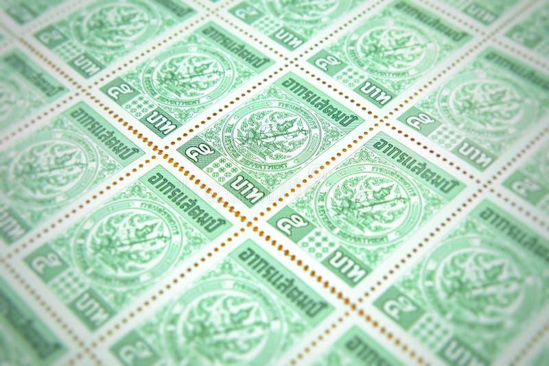 Chiang raja Tajlandia, Maj, - 21, 2018: Celna opłata pocztowa, 5 baht ponowny zdjęcia stock