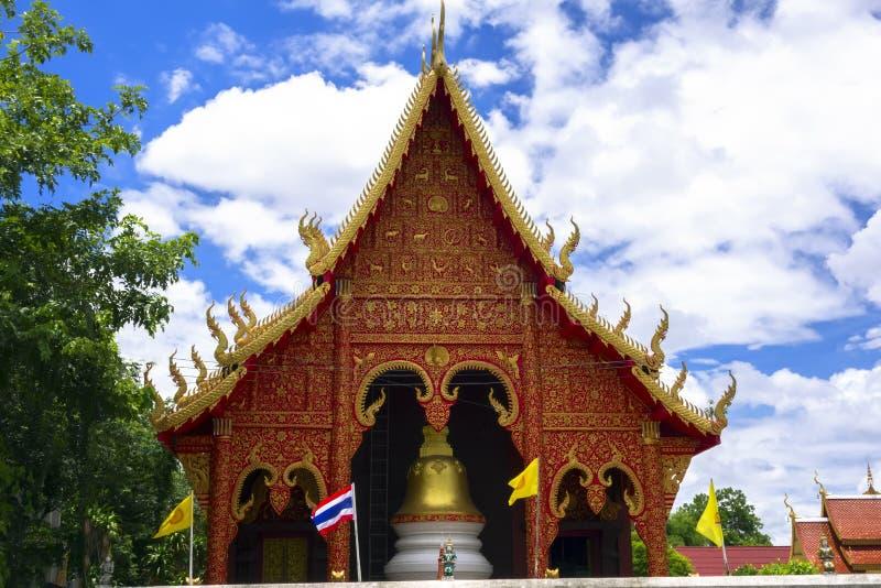 Chiang Yuen Temple. Wat Chiang Yuen Chiang Rai, Temple in Northern Thailand. View from Road stock photo
