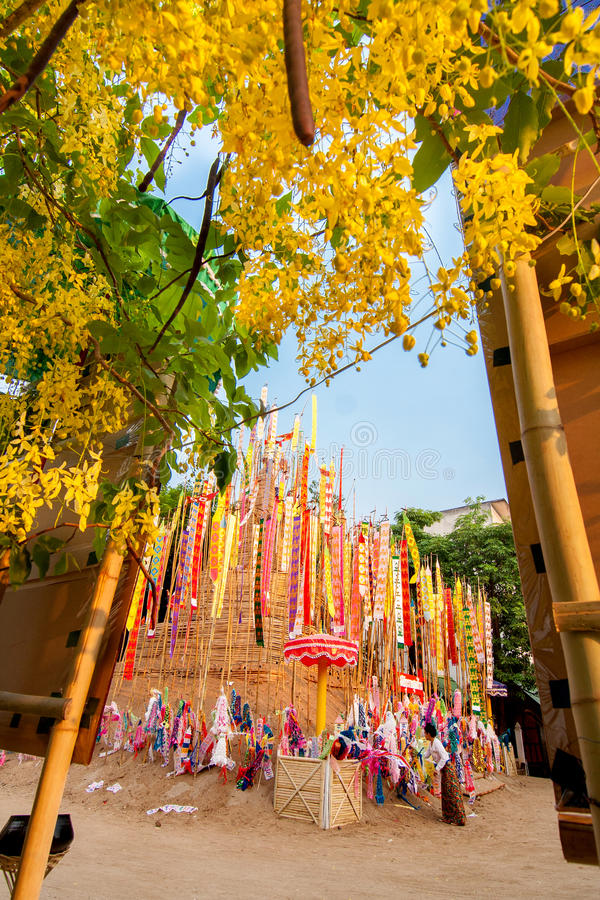 CHIANGMAI, THAILAND-APRIL 14 :Songkran节日是庆祝的i 库存图片