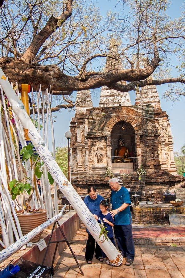 CHIANGMAI, ΤΑΪΛΑΝΔΗ 15 ΑΠΡΙΛΊΟΥ: Λατρεία στο φεστιβάλ Songkran, Α στοκ εικόνες
