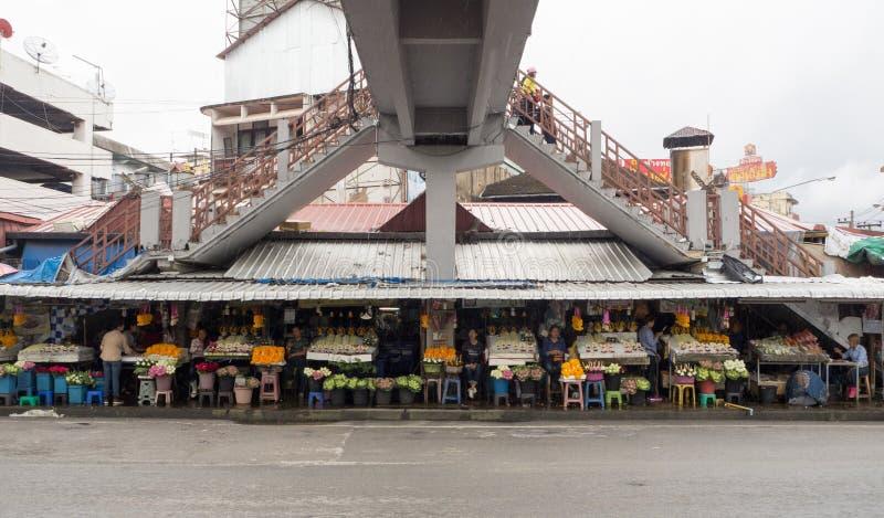 CHIANGMAI, ТАИЛАНД - 26-ое июля 2017: Рынок Warorot, Чиангмай, стоковое фото rf