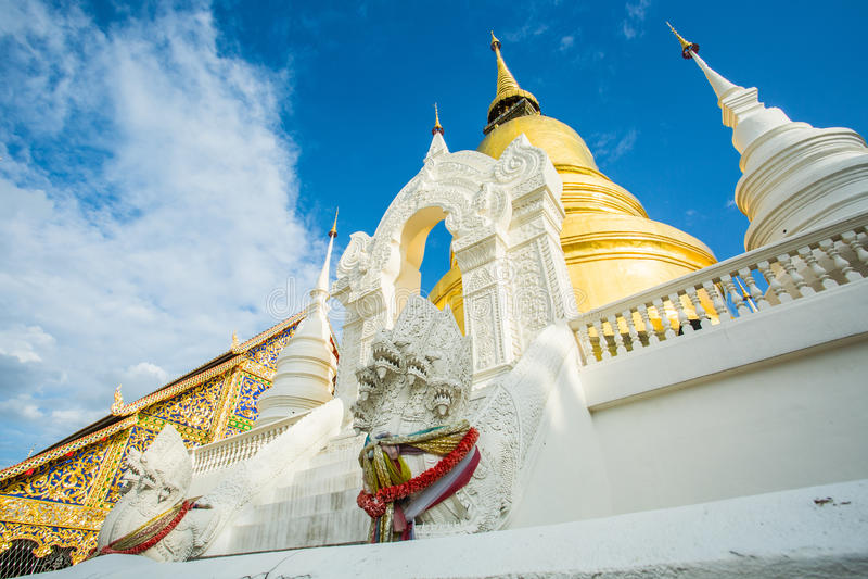 Chiangmai dorato Tailandia del suandok del wat della pagoda immagini stock