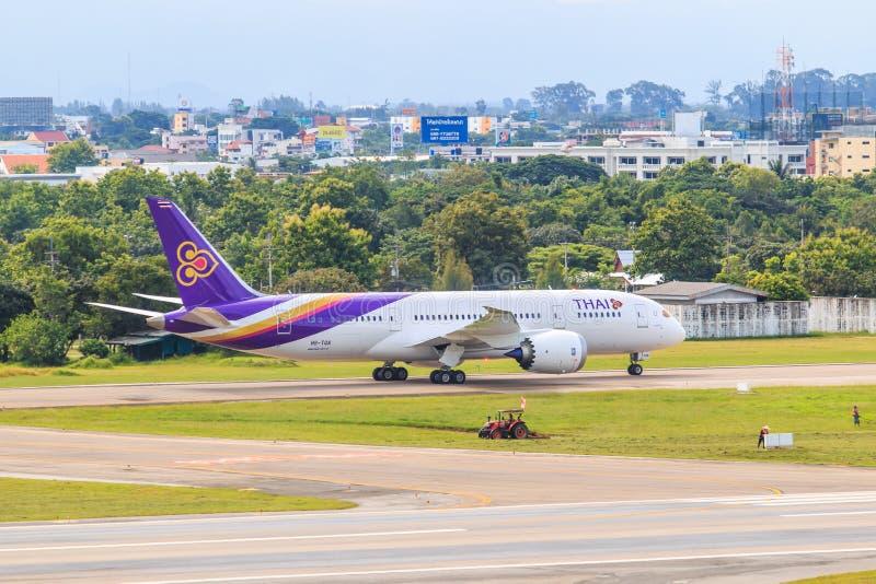 CHIANGMAI, TAILANDIA - 26 de julio de 2014: HS-TAN Airbus A300-600R de Thai Airways imágenes de archivo libres de regalías