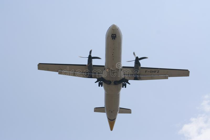 F-OHFZ ATR72-200 of Airmandalay. royalty free stock photos