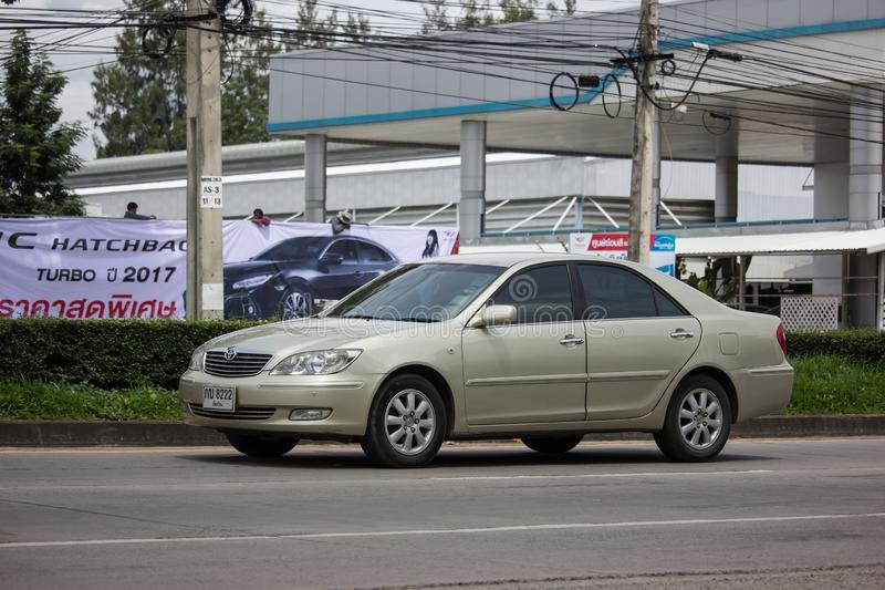 Private car Toyota Camry. Chiangmai, Thailand - August 29 2019: Private car Toyota Camry. On road no.1001 8 km from Chiangmai Business Area royalty free stock photo