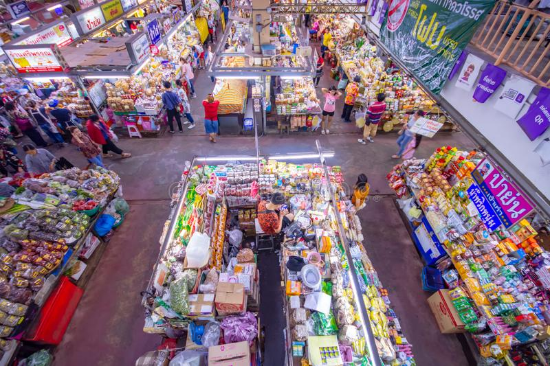 CHIANGMAI,THAILAND - DECEMBER 10, 2018 Warorot Market, locally called Kad Luang, is the one of Chiang Mai`s largest market.The pla. CHIANGMAI,THAILAND - DECEMBER stock photography