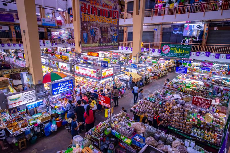 CHIANGMAI,THAILAND - DECEMBER 10, 2018 Warorot Market, locally called Kad Luang, is the one of Chiang Mai`s largest market.The pla. CHIANGMAI,THAILAND - DECEMBER stock image