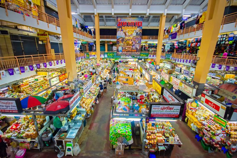 CHIANGMAI,THAILAND - DECEMBER 10, 2018 Warorot Market, locally called Kad Luang, is the one of Chiang Mai`s largest market.The pla. CHIANGMAI,THAILAND - DECEMBER royalty free stock photography