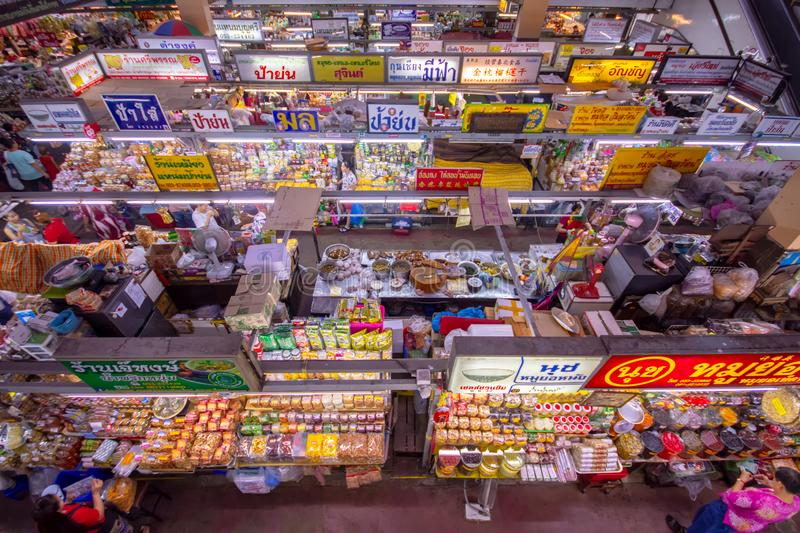 CHIANGMAI,THAILAND - DECEMBER 10, 2018 Warorot Market, locally called Kad Luang, is the one of Chiang Mai`s largest market.The pla. CHIANGMAI,THAILAND - DECEMBER stock photo