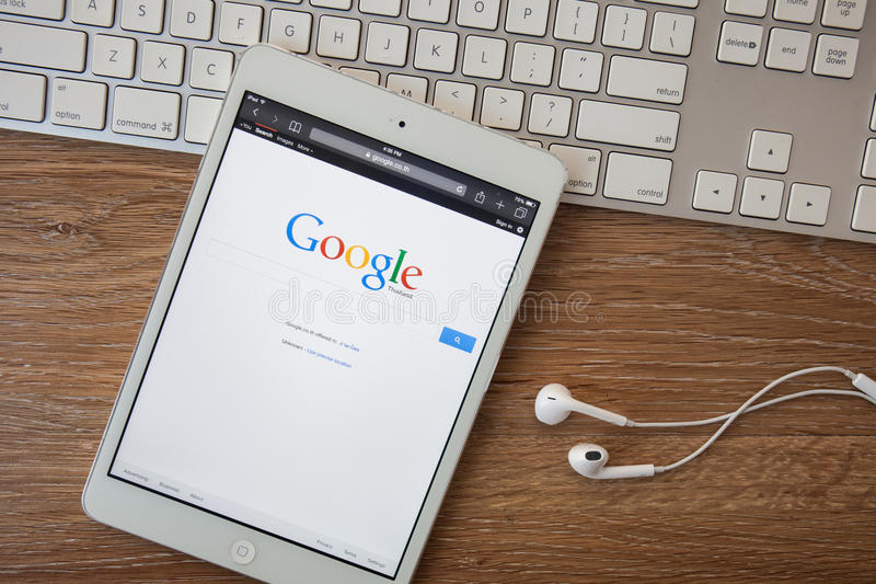 CHIANGMAI, THAILAND -February 8, 2014: Google is an American multinational corporation specializing in Internet-related services. And products. Most of its royalty free stock photos