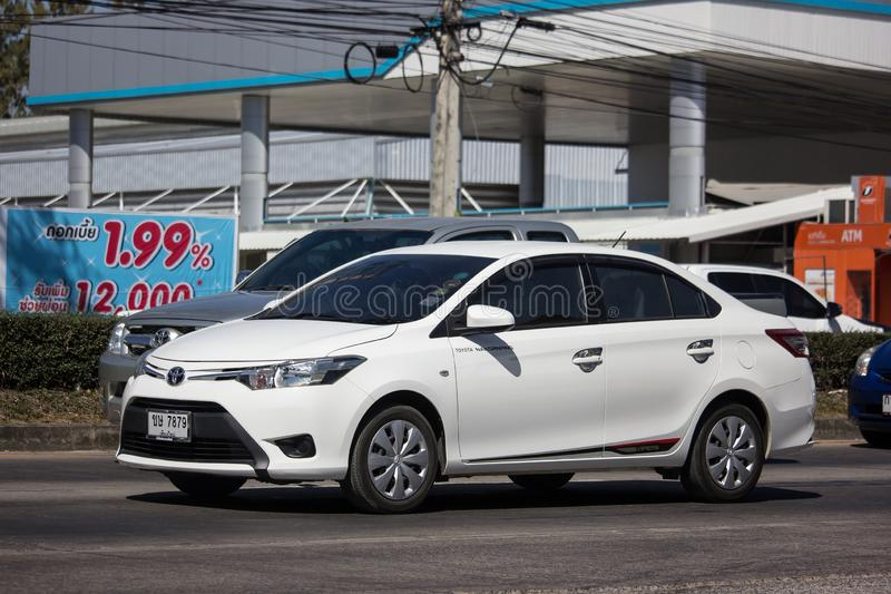 Private Sedan car Toyota Vios stock photos