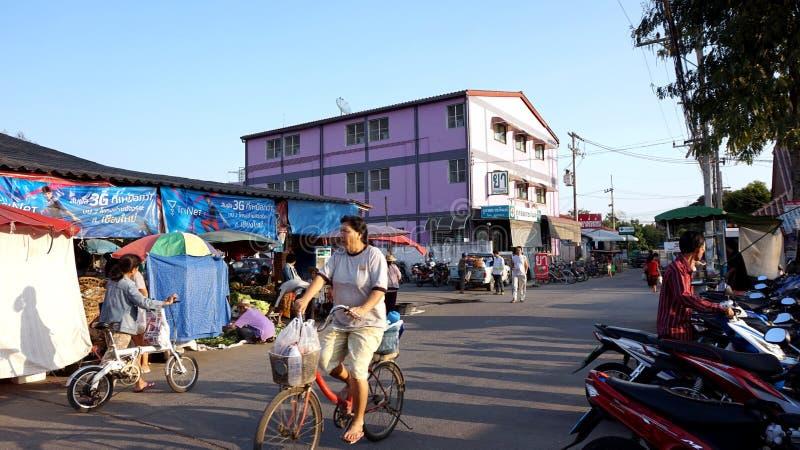 Chiangmai, Thailand - January 2015 - Asian's local market. Area stock images