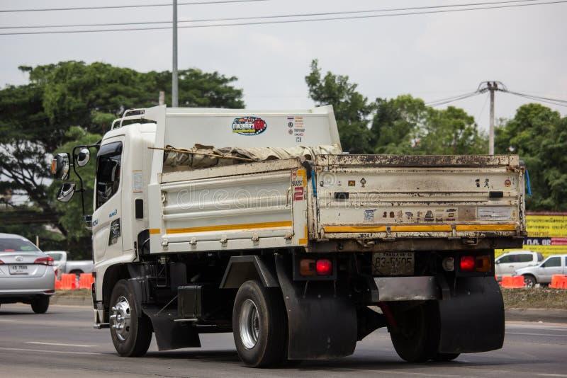 Private Hino Dump Truck. Chiangmai, Thailand - June 25 2019: Private Hino Dump Truck. On road no.1001 8 km from Chiangmai Business Area royalty free stock photos