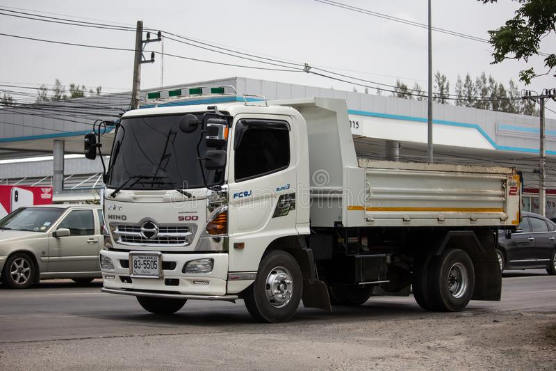 Private Hino Dump Truck. Chiangmai, Thailand - June 25 2019: Private Hino Dump Truck. On road no.1001 8 km from Chiangmai Business Area stock images