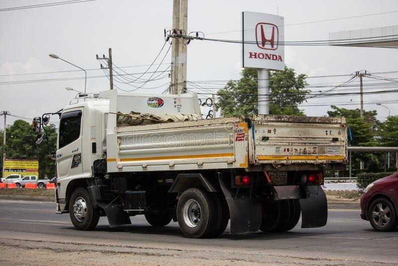 Private Hino Dump Truck. Chiangmai, Thailand - June 25 2019: Private Hino Dump Truck. On road no.1001 8 km from Chiangmai Business Area stock photos