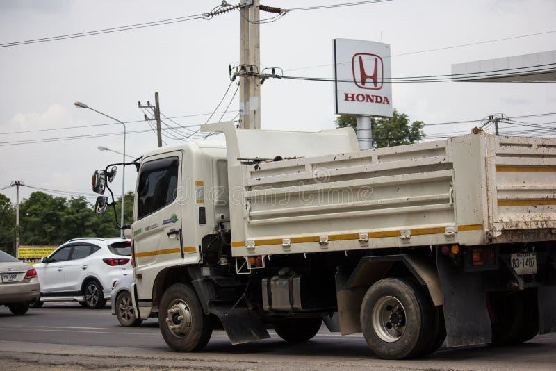 Private Hino Dump Truck. Chiangmai, Thailand - June 25 2019: Private Hino Dump Truck. On road no.1001 8 km from Chiangmai Business Area stock image