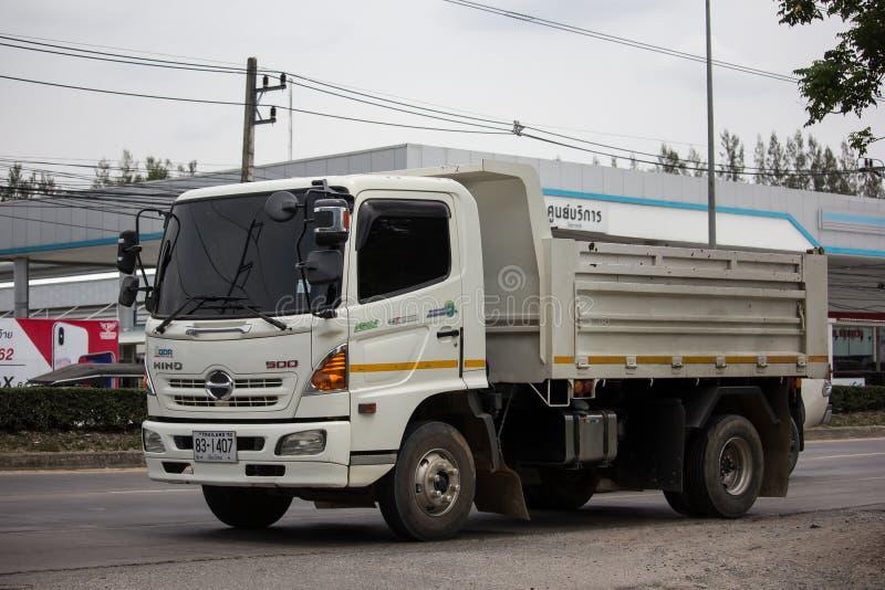 Private Hino Dump Truck. Chiangmai, Thailand - June 25 2019: Private Hino Dump Truck. On road no.1001 8 km from Chiangmai Business Area stock photo