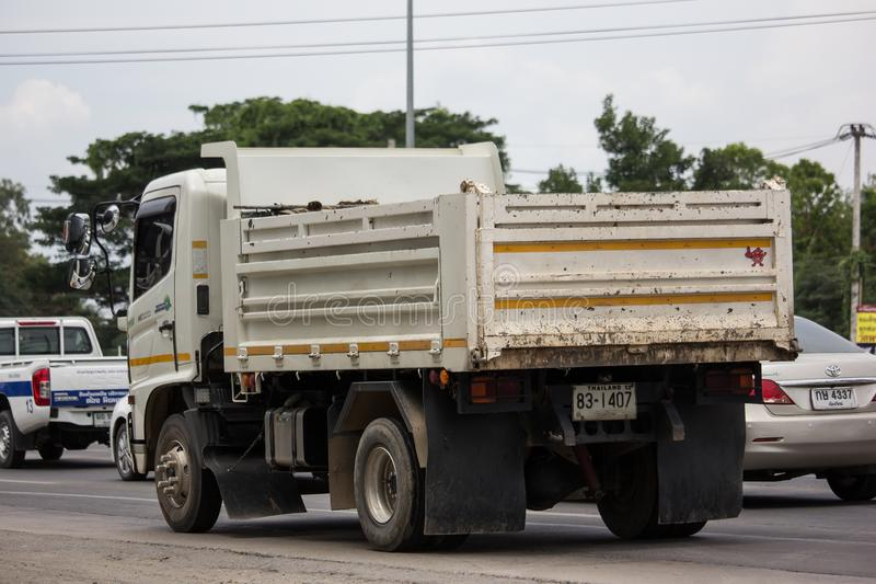 Private Hino Dump Truck. Chiangmai, Thailand - June 25 2019: Private Hino Dump Truck. On road no.1001 8 km from Chiangmai Business Area royalty free stock photography