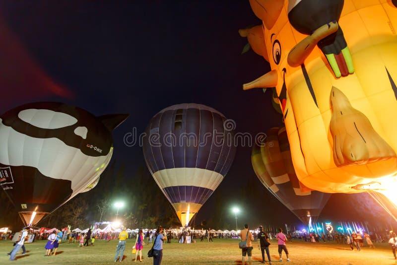 CHIANGMAI, THAILAND, 4 MAART 2016: De internationale ballon van Thailand stock foto
