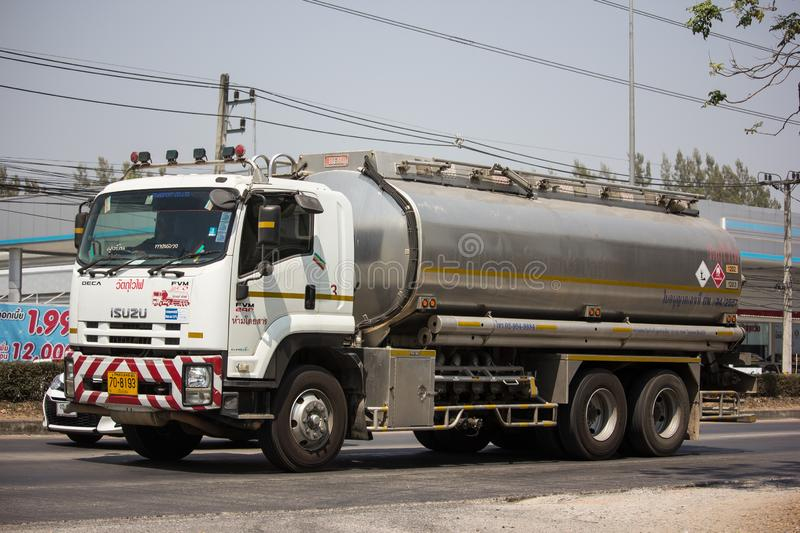 Private Oil Truck. Chiangmai, Thailand - March 8 2019: Private Oil Truck. On Truck on road no.1001, 8 km from Chiangmai city auto business car cargo diesel royalty free stock photography