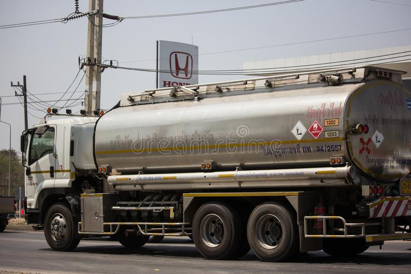 Private Oil Truck. Chiangmai, Thailand - March 8 2019: Private Oil Truck. On Truck on road no.1001, 8 km from Chiangmai city auto business car cargo diesel royalty free stock images