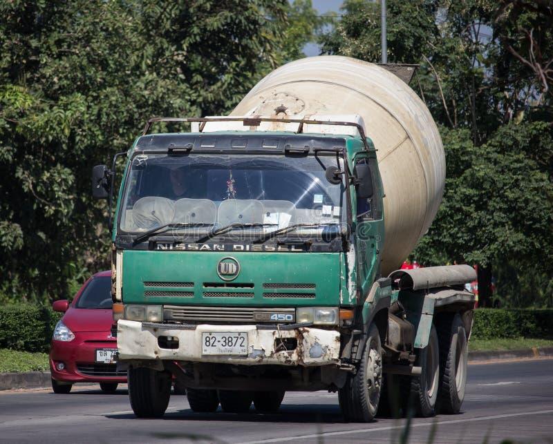 Cement truck of LRC Concrete company stock photo