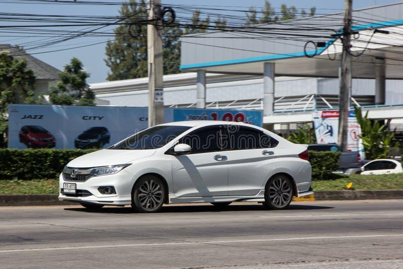 Chiangmai, Thailand - November 5 2018: De privé Compacte auto van Honda City Geproduceerd door de Japanse fabrikant Honda Foto bi royalty-vrije stock foto's