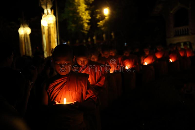 CHIANGMAI THAILAND - NOVEMBER 12 : Loy Krathong festival, celebrate the Loy Krathong festival on November 12, 2014 in Chiangmai, stock image