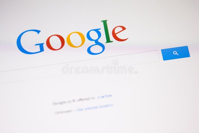 CHIANGMAI THAILAND - SEPTEMBER 28, 2014: Google är en amerikan M royaltyfria foton