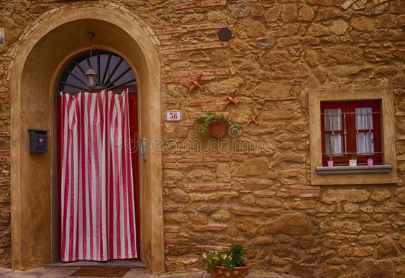 Chianni - Italy. Traditional house entrace in Italy stock photos