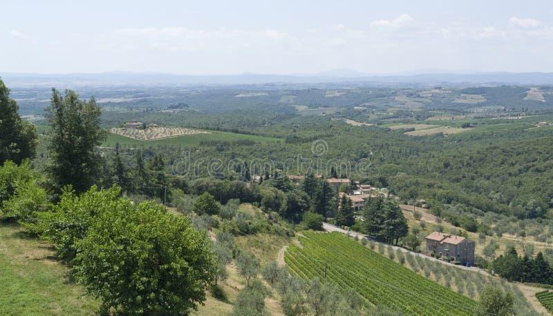 Chianti in Toscanië royalty-vrije stock afbeelding