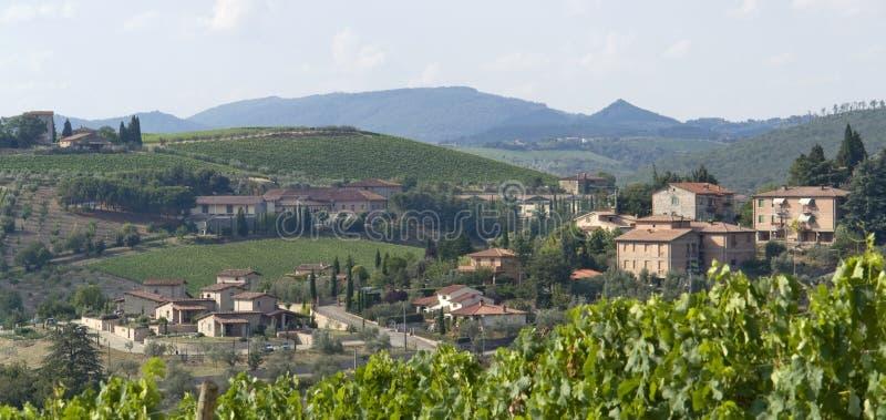 Chianti in Toscanië royalty-vrije stock foto's