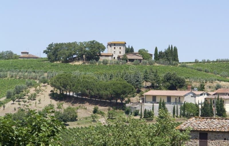 Chianti in Toscanië royalty-vrije stock fotografie