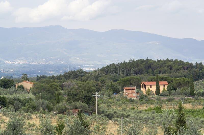 Chianti in Toscanië stock afbeelding