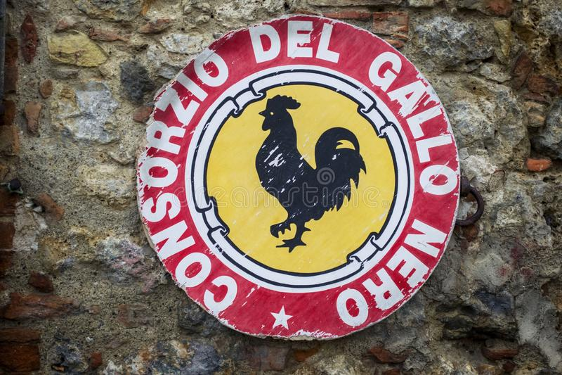 Chiantivin, Italien royaltyfria bilder