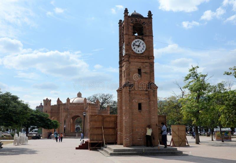 Chiapa de Corzo Strömförsörjning Plaza royaltyfria bilder