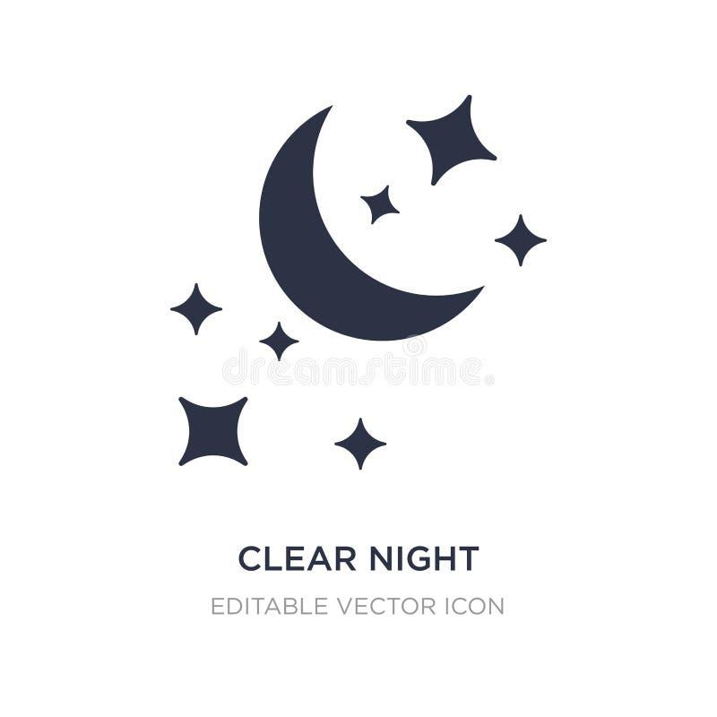 chiara icona di notte su fondo bianco Illustrazione semplice dell'elemento dal concetto di forme illustrazione vettoriale