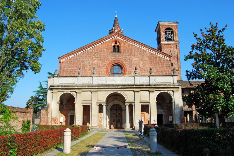 Chiaravalle Abbey stock photography