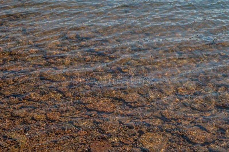 Chiare riflessioni pulite dell'acqua del lago fotografia stock
