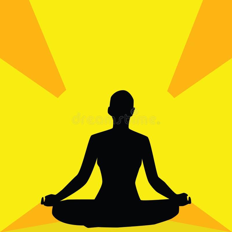 Chiarimento di yoga royalty illustrazione gratis