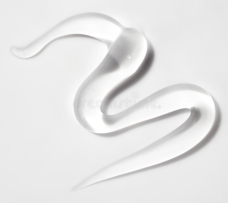 Chiaro gel trasparente isolato sopra bianco fotografia stock