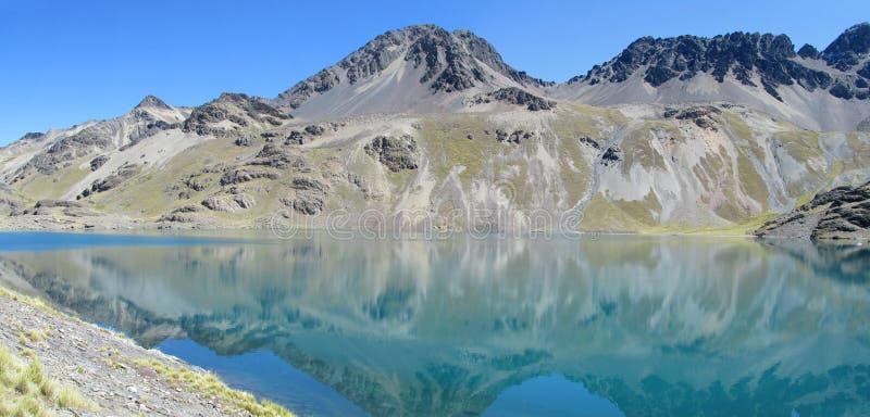Chiaro lago blu di cristallo della montagna fotografie stock libere da diritti
