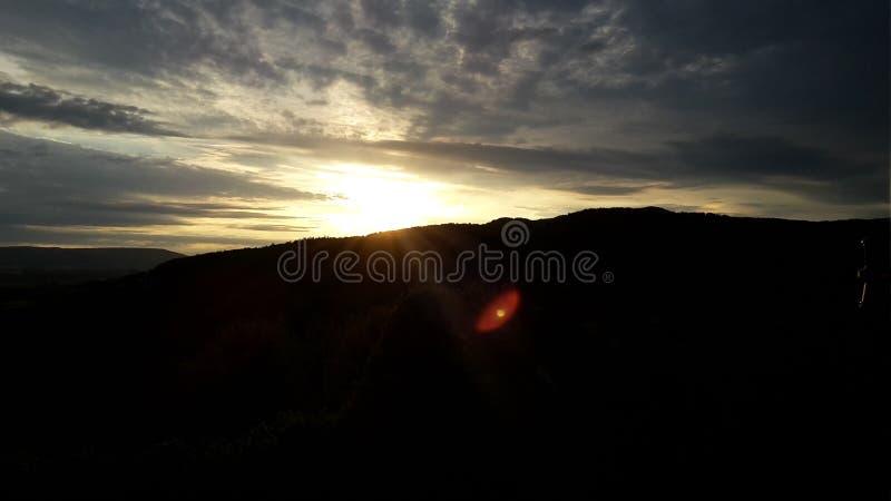 Chiaro tramonto fotografia stock