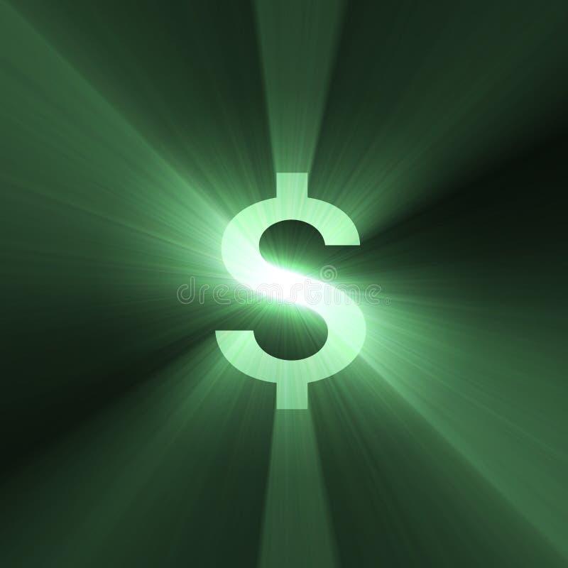 Chiarore del dollaro del segno di valuta royalty illustrazione gratis