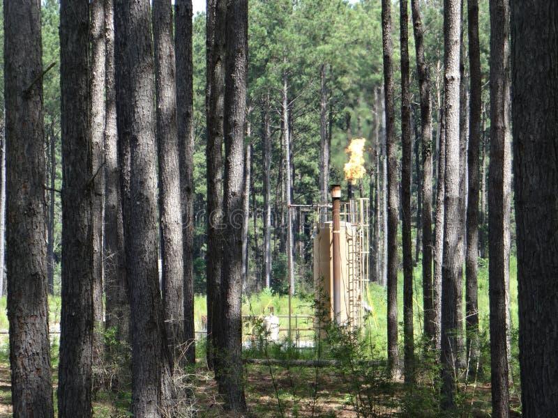 Chiarore del gas naturale fotografie stock libere da diritti