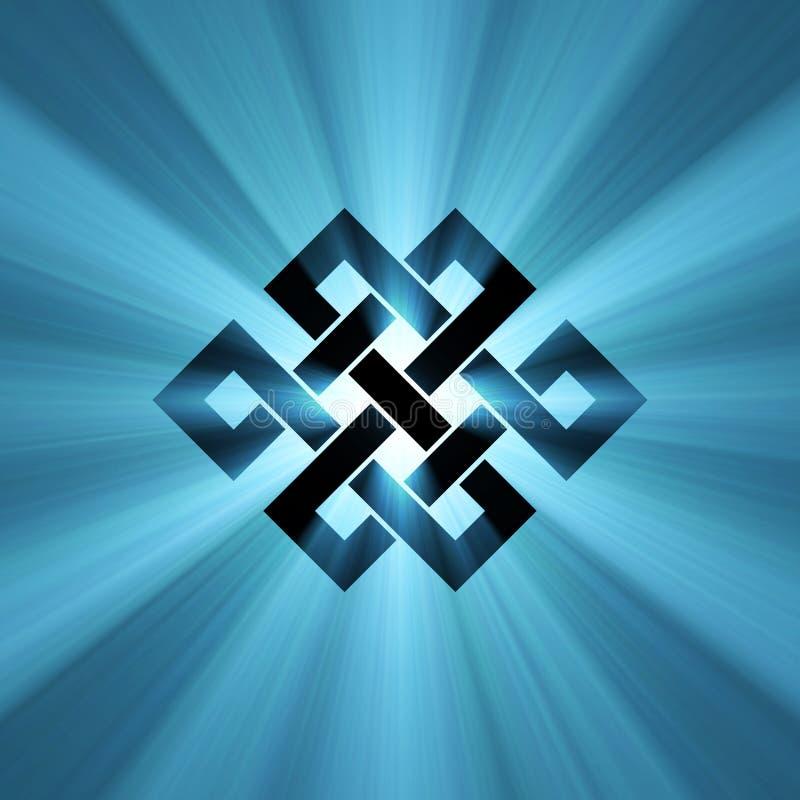 Chiarore leggero blu del nodo senza fine royalty illustrazione gratis