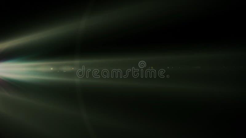 Chiarore reale della lente sparato in studio sopra fondo nero Facile aggiungere come la sovrapposizione o foto del filtro a sipar immagini stock